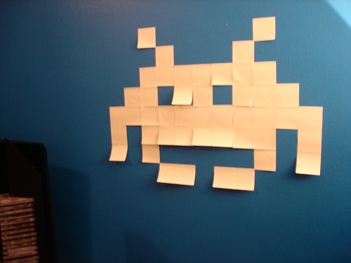 Post-it art - Space Invaders! | by Blublog.it