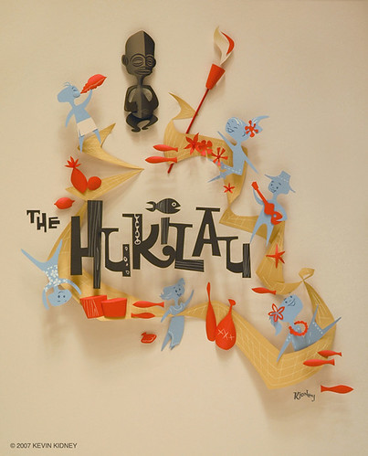 HUKILAU Paper Sculpture Poster - Kevin Kidney | by Miehana