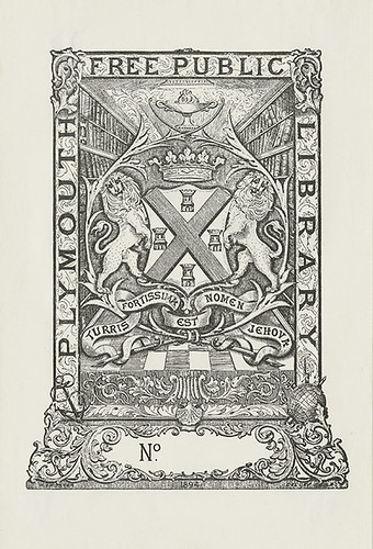 [Bookplate of the Plymouth Free Public Library] | by Pratt Institute Library