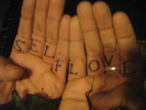 Self love tattoo when facing himself his tattoo says for Self love tattoos