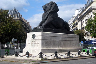 Paris - Montparnasse: Place Denfert-Rochereau - Le Lion de Belfort | by wallyg