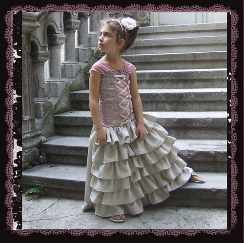 Fancy girl princess gown pink and ivory | by Katarina Roccella