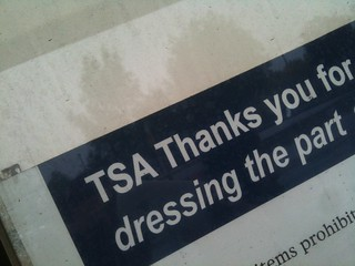 "You mean a clean-shaved white dude?: ""TSA Thanks you... for dressing the part"" 