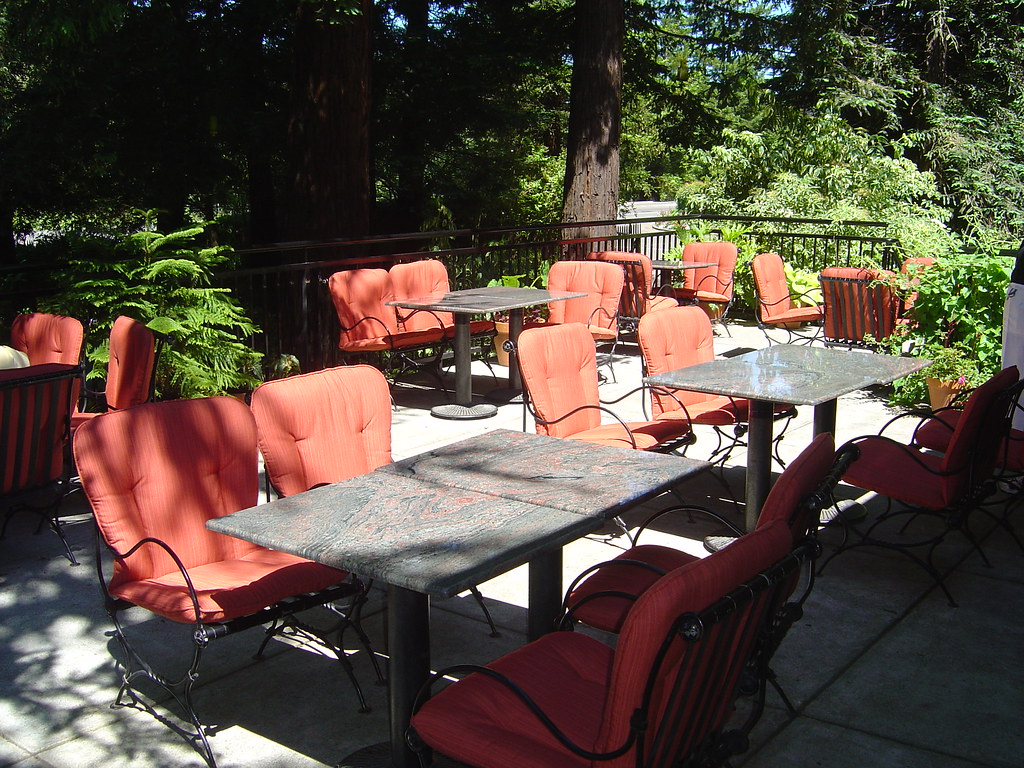 Winery Cafe Outdoor Cafe Seating In Sunbrella Fabric Michael S