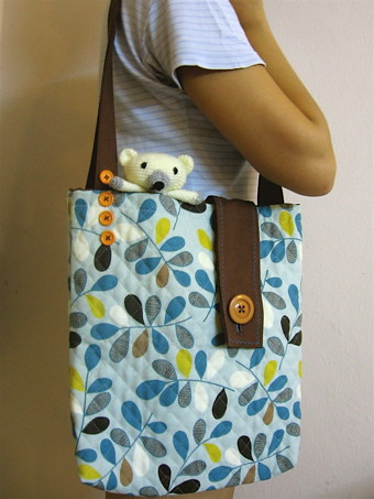 my handmade tote bag | The fabric was from Japan, I just lov… | Flickr