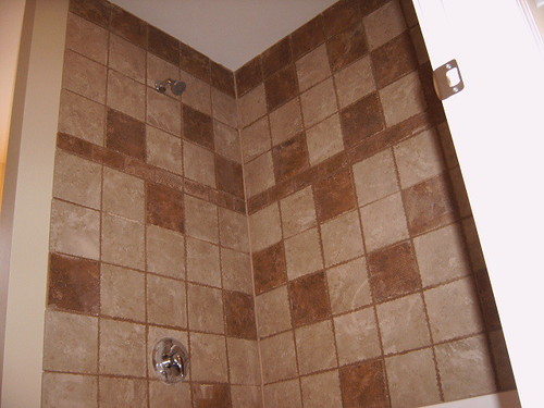 how to clean a tile shower stall