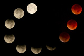 Composite of eclipse progression | by chadmiller