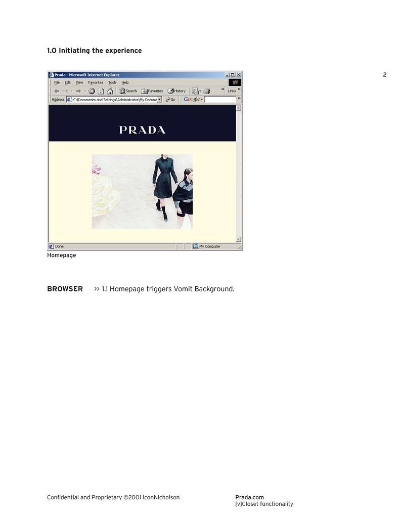 Prada com Virtual Closet Functionality Page 3 of 16 / 2001