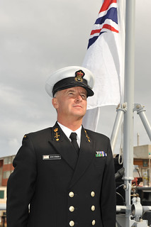 CPOSCS Kevin Stinson at Wellington's acceptance ceremony in Williamstown, Melbourne | by Royal New Zealand Navy
