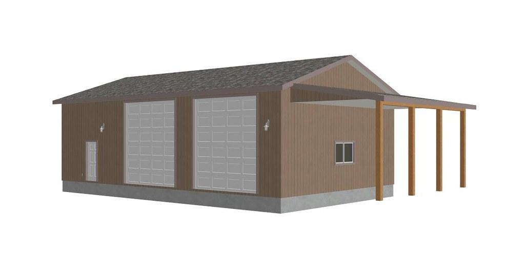 RV Garage Plans G393 30 X 50 X 14 detached RV Garage Pla – 50 X 30 Garage Plans