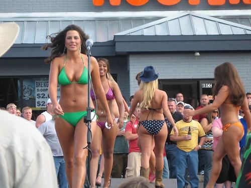Bikini boy contest hooters man man party