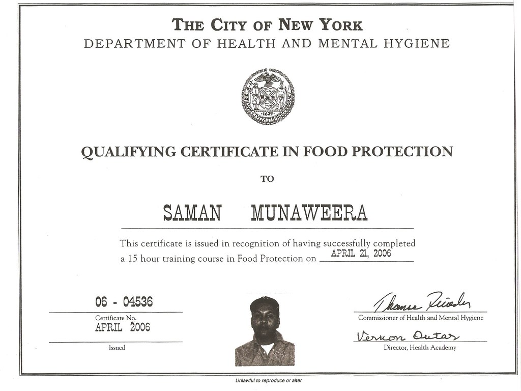 food hygiene training certificate from new york usa flickr samanmunaweera food hygiene training certificate from new york usa by samanmunaweera