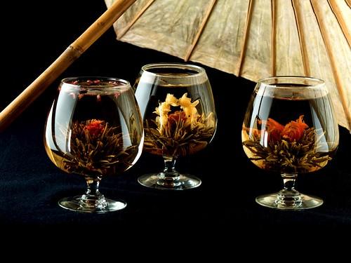 Blooming Tea under Umbrella | Just added the umbrella and ...
