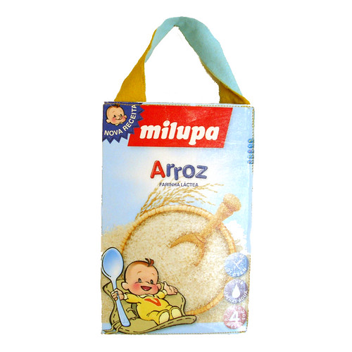 Baby Cereal Box Tote Bag | Another tote bag I've made using ...