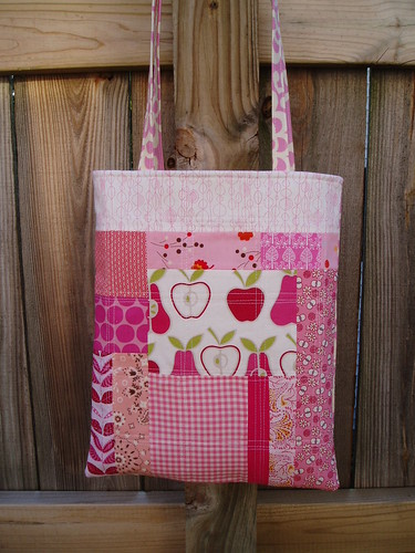 pink patchwork tote | by Hip To Piece Squares