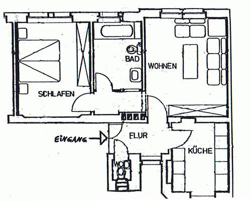 unsere erste gemeinsame wohnung grundriss klein aber. Black Bedroom Furniture Sets. Home Design Ideas