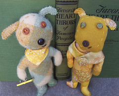 Art and Maisy - Vintage Wool DOG FRIENDS COUPLE | by leafpeople