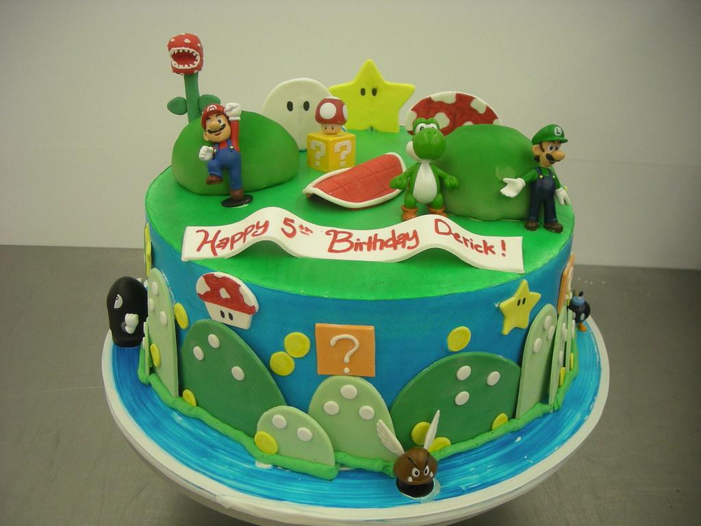 Super Mario Birthday Cake 491 Asweetdesignfo 818 Flickr