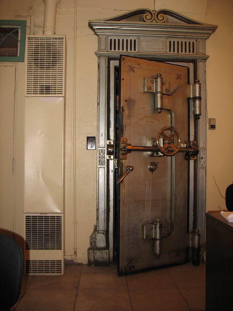 ... Old Bank Vault Door | by bastronaut & Old Bank Vault Door | In a jewellery shop in Flagstaff. | Brent ...