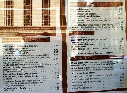 Street Cafe Menu Montgomery