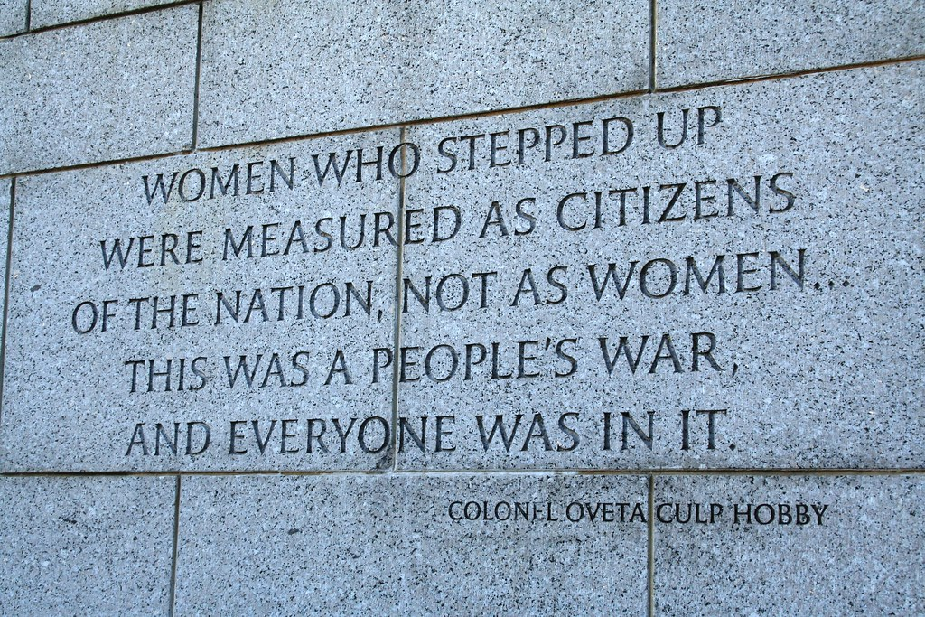Ww2 Quotes New WWII Women Quote Having Served As A Woman In A Man's Worl Flickr