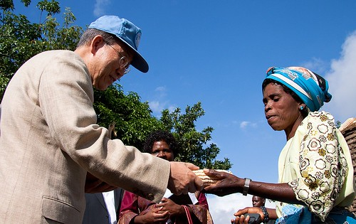 Ban Ki-Moon receives a gift, Mwandama | by millenniumpromise