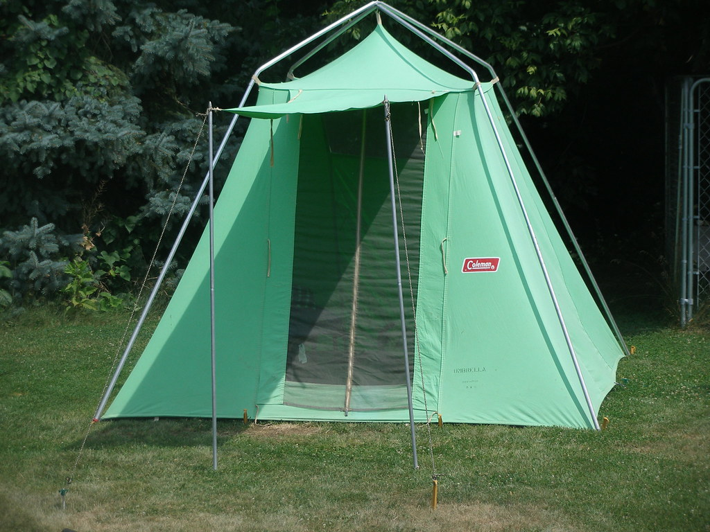 ... Vintage Coleman Umbrella Tent | by Panther Combo & Vintage Coleman Umbrella Tent | Richard DeMartino | Flickr