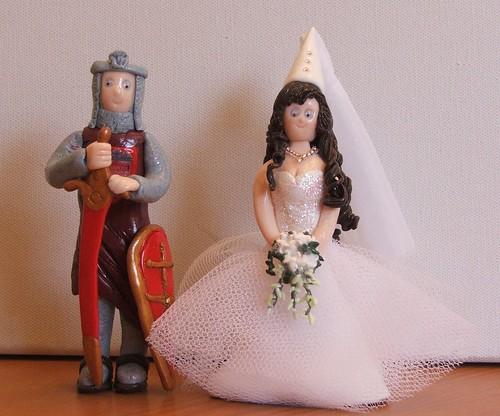 Knight Princess Cake Topper