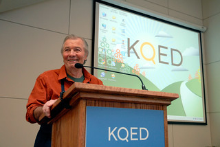 Jacques Pepin at the KQED Staff meeting | by bayareabites
