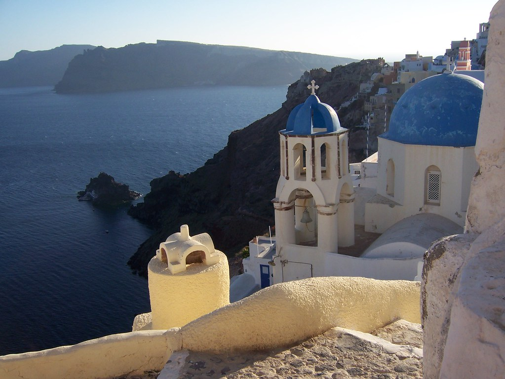 church & cave houses in Santorini