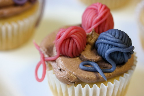 Knit Night Cupcakes - Yarn Balls | by teenytinyturkey