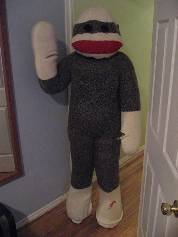 ... Sock Monkey Halloween Costume - the wave test | by legocouple & Sock Monkey Halloween Costume - the wave test | Just beginniu2026 | Flickr