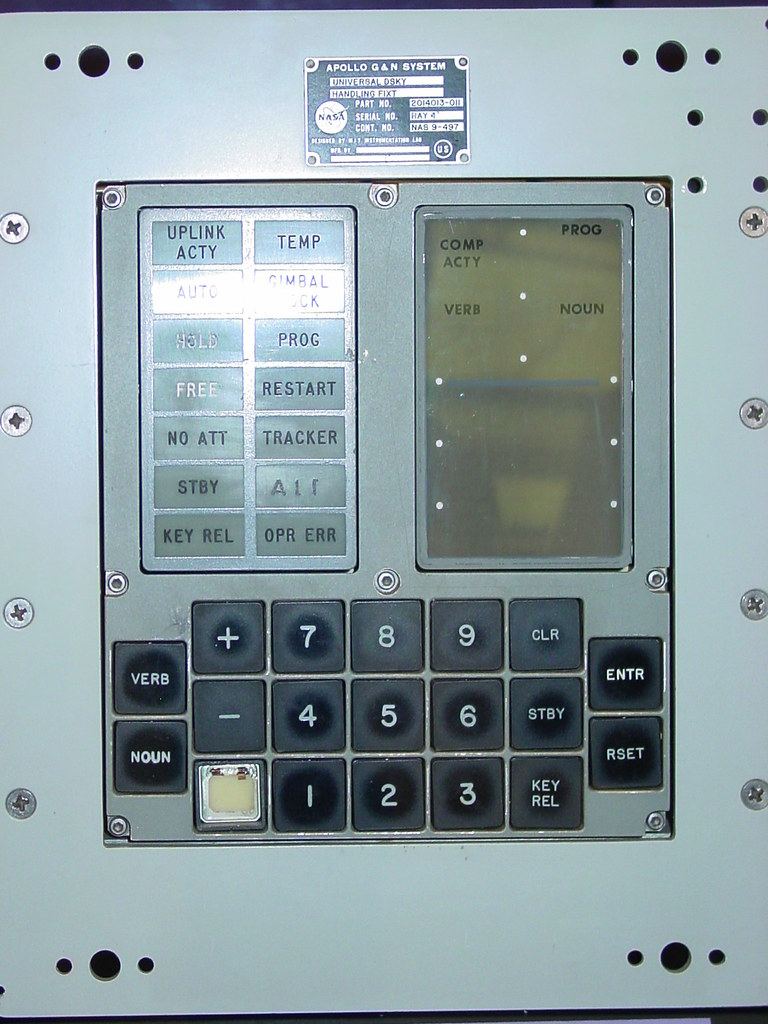 Apollo Guidance Computer DSKY | Display/Keyboard | Mack McKinley and ...