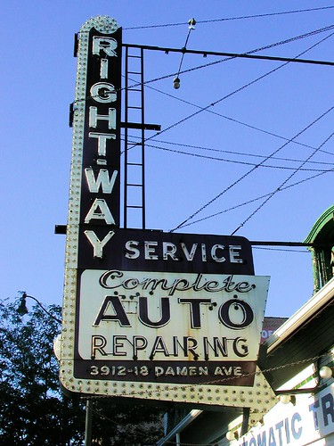 Rightway Auto Service Sign | by pixeljones