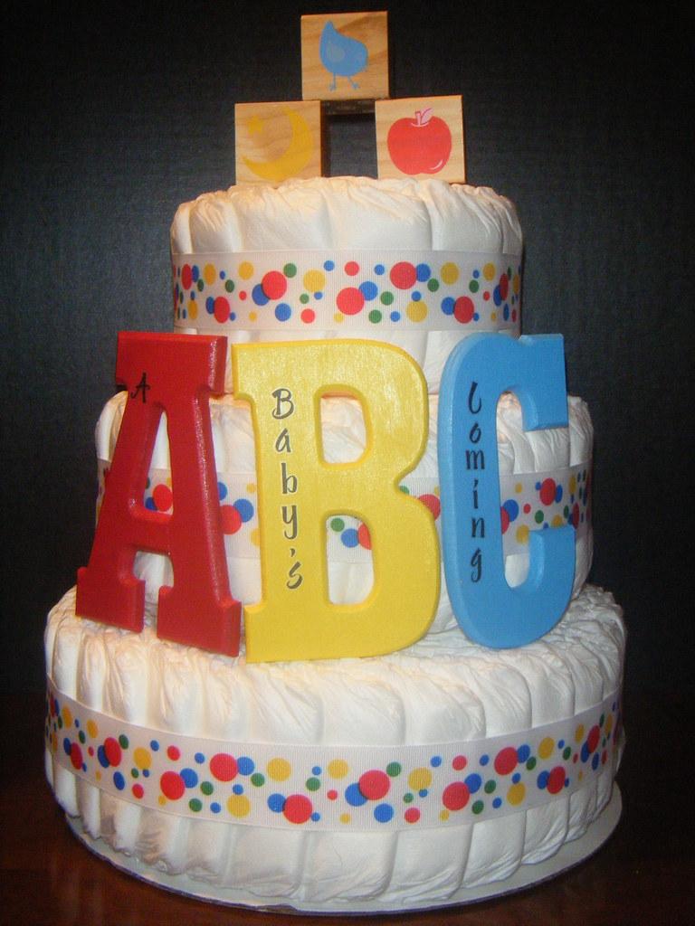 abc diaper cake by kellibergin - Abc Cake Decorating