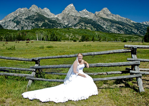 A Beautiful Bride in the Tetons | by Jeff Clow