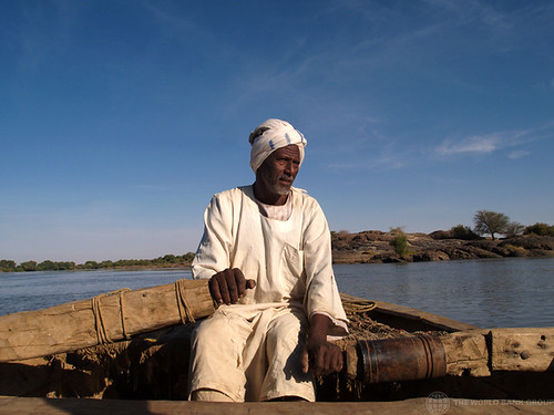 Man on boat. Sabaloka, Sudan | by World Bank Photo Collection
