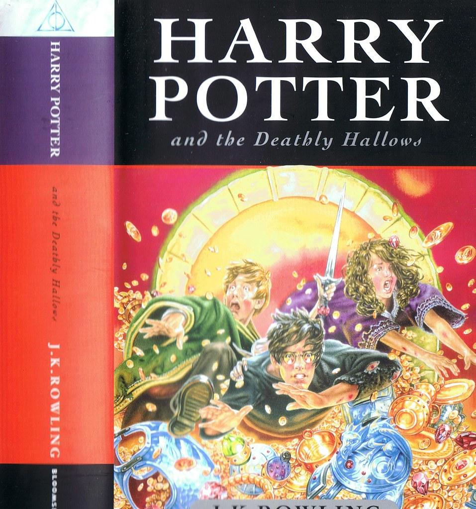 Harry Potter Book Cover Uk ~ Harry potter and the deathly hallows uk version this is tu flickr