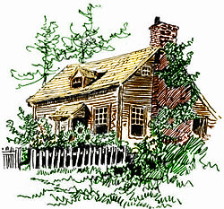 Vintage House Illustration