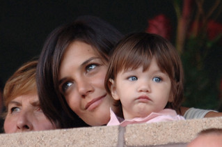 Katie Holmes and Suri Cruise attends LA Galaxy vs Chelsea FC Football Game | by solemema