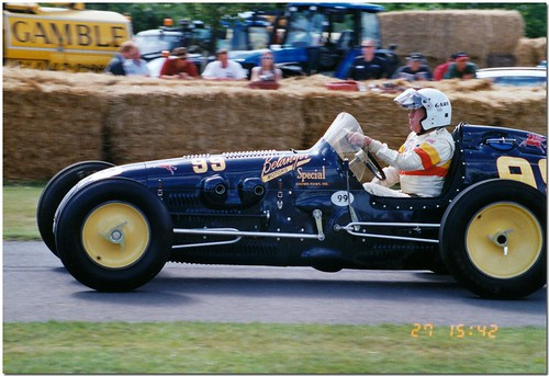 "Gary Bettenhausen 1951 Kurtis Kraft Offenhauser  ""Belanger Special"" Indy Car. Goodwood Festival of Speed 2004. 