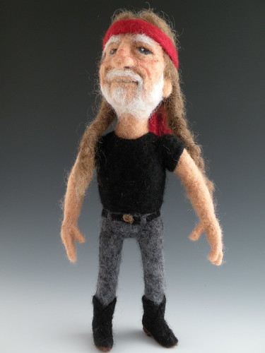 Needle Felted Willie Nelson | by feltalive