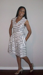 Painted zebra wrap dress, B5320 | by sewsew2010