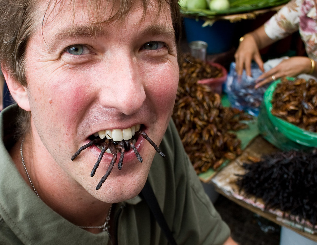 Eating Tarantula in Cambodia