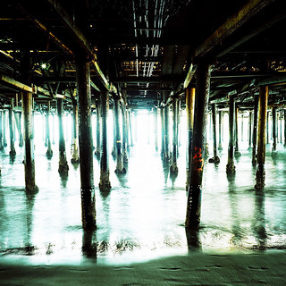 under the pier. santa monica, ca. 2007. | by eyetwist
