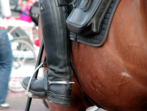 Boot of a Policeman on horseback | by Michiel2005