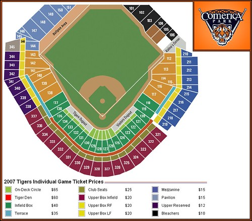 Comerica park seating detroit tigers comerica park seating flickr