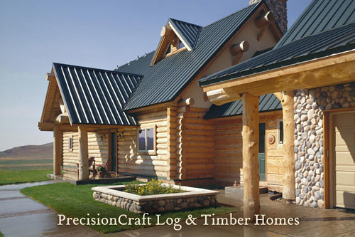 Milled Log Home | Custom Design | Sun Valley Idaho | PrecisionCraft Log Homes & Timber Homes | by PrecisionCraft Log & Timber Homes