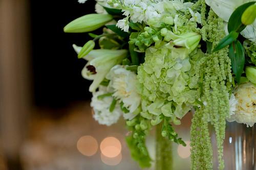 Green hydrangea centerpiece gardeenia flickr