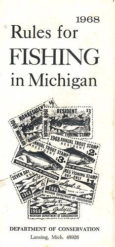 1968 michigan fishing license 1968 michigan fishing for Fishing license michigan